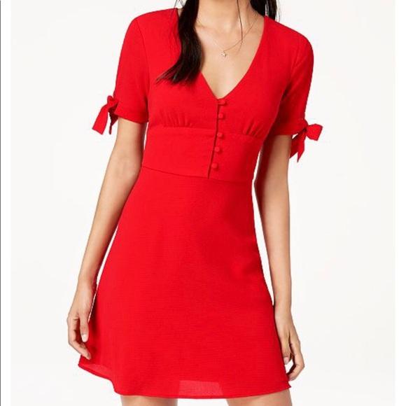 df430231ab3d3f B Darlin Dresses | Retro Red Fit Flare Mini Dress New Nwt | Poshmark